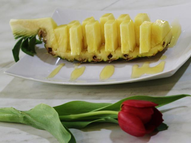 100. Pineapple in caramel