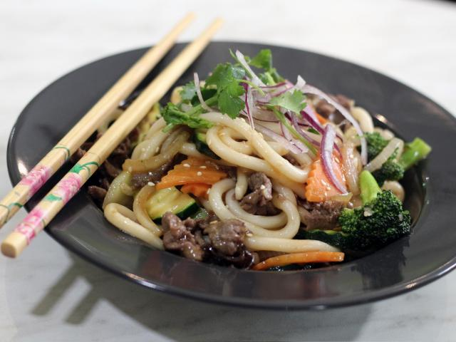 33. Udon with beef