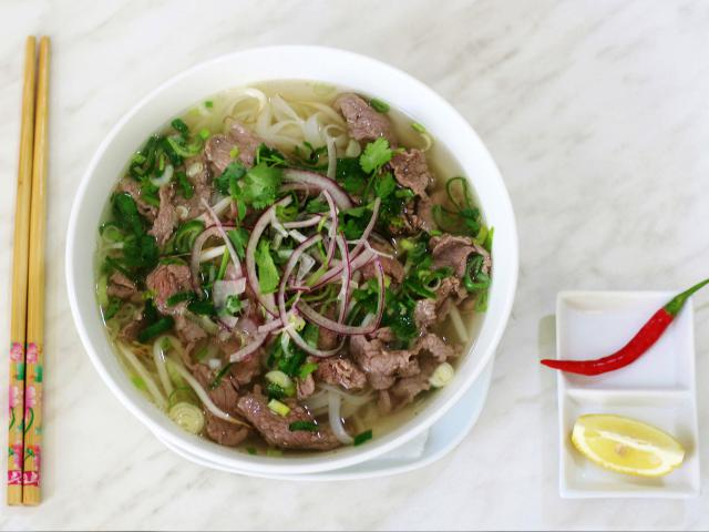 46. Noodle soup Pho with beef