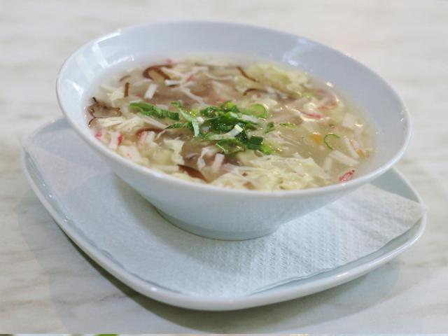 6. Soup with crab meat and shrimp