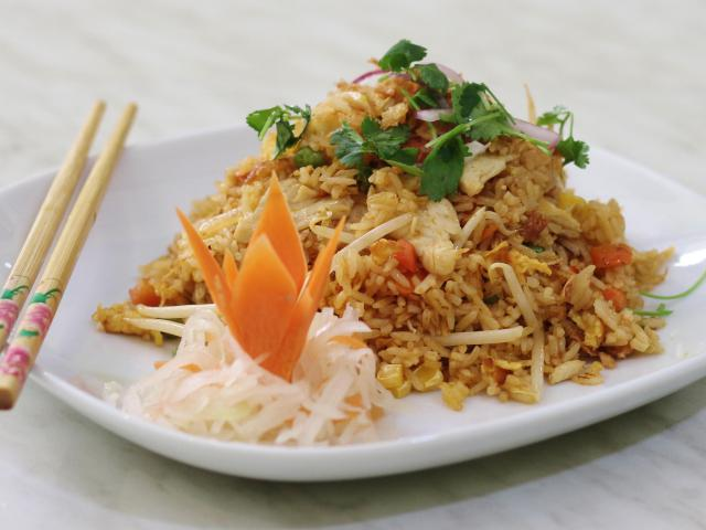 75. Fried rice with chicken