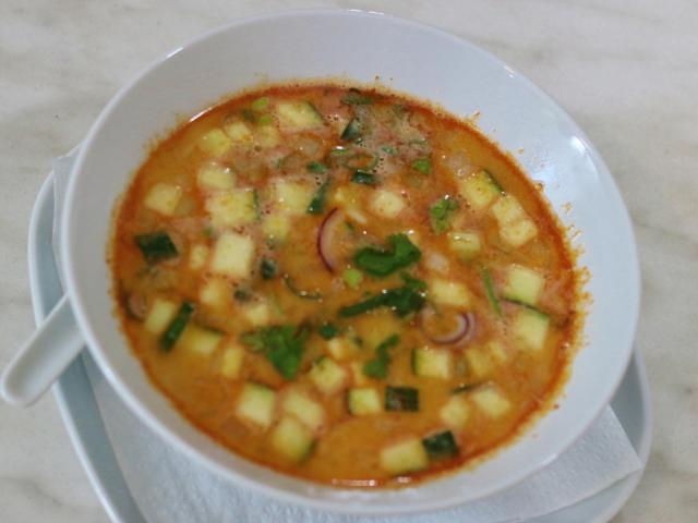 9. Thai soup with shrimp