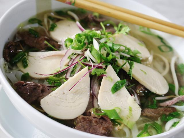 47. Noodle soup Pho with chicken and beef